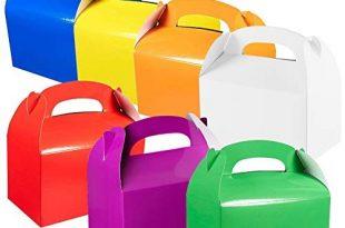 VGOODALL Kuchenkartons, Gebäckkartons Weihnachten Geschenkbox 35 Stück 7 Regenbogenfarbe Kuchenboxen für Kuchenstücke und Weihnachten, Geburtstag, Hochzeit, Party, Dekoration