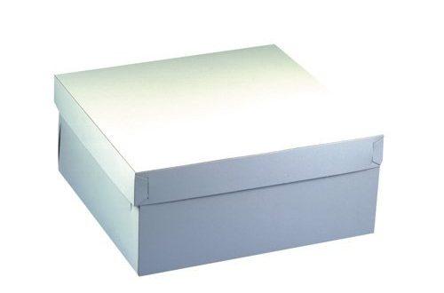 Papstar Tortenkarton Kuchenkarton weiss eckig 10 Stueck mit Deckel 500x330 - Papstar Tortenkarton / Kuchenkarton weiß, eckig (10 Stück), mit Deckel, hergestellt aus Pappe, 30 x 30 x 13 cm, Stärke 600 g/m², lebensmittelecht, #18857