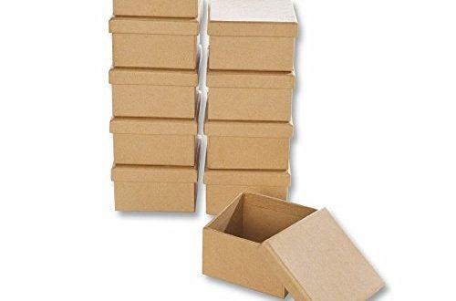 Papp Boxen 10 Stueck ECKIG 75x75x45cm Bastelboxen mit Deckel Schachteln 500x330 - Papp-Boxen 10 Stück ECKIG 7,5x7,5x4,5cm Bastelboxen mit Deckel - Schachteln zum Gestalten und Aufbewahren von Bastel-Materialien