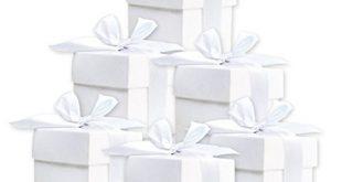 50 Stueck Suesse Geschenkboxen weiss Gastgeschenk fuer Hochzeit Babyparty Taufe 310x165 - 50 Stück Süße Geschenkboxen (weiß) Gastgeschenk für Hochzeit Babyparty Taufe Geburt